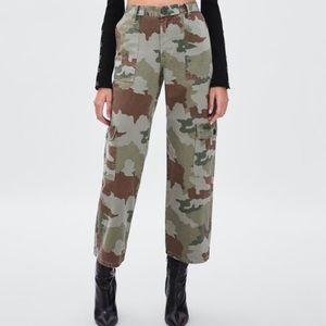 NWOT Zara camo cargo pants Straight fit